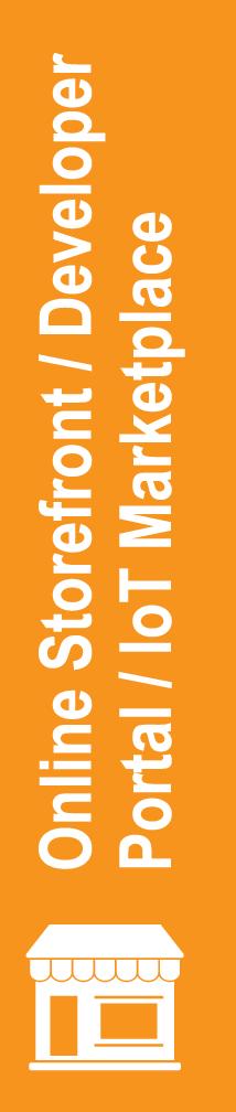 Online Storefront / Developer Portal / IoT Marketplace
